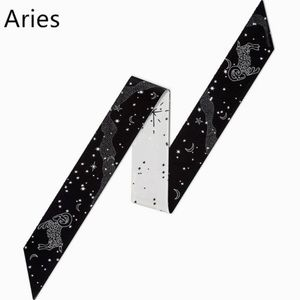 Accessories - IN STOCK Aries Zodiac Sign Silk Twilly Scarf